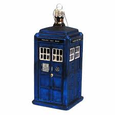 kurt adler 4 25 inch doctor who tardis glass figural