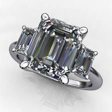 emerald cut engagement rings 4 carat emerald cut supernova moissanite ring j designs
