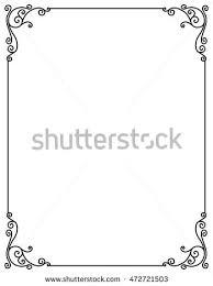 Decorative Frame Png Vector Image Decorative Ornamental Frame Stock Vector 472721503