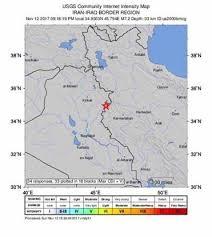 map iran iraq more than 350 dead after quake hits along iran iraq border the