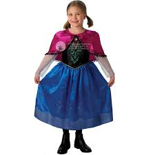 frozen anna elsa costume u0026 wig girls disney princess kids
