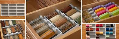 In Drawer Spice Racks 12 Slot Angled Kitchen Drawer Spice Rack
