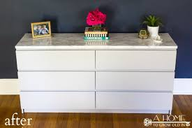 Malm Ikea Nightstand How To Makeover Your Ikea Malm Dresser With A Marble Top A Home