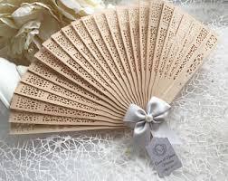 wooden fans personalized fan etsy