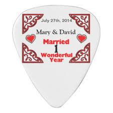 1 yr anniversary anniversary guitar picks accessories zazzle