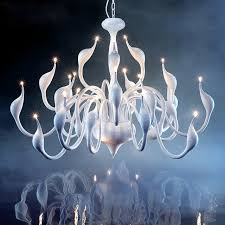 Indoor Chandeliers Modern Deco G4 Led Swan Chandeliers Lights For Bedroom Living