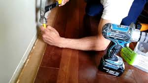 a quick tip on installing hardwood flooring when you get close to