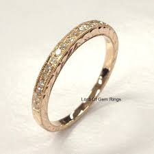 lord of the rings wedding band 359 pave diamond wedding band half eternity anniversary ring 14k
