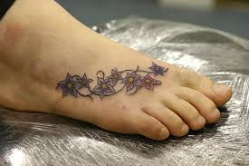 72 best flower tattoos on foot