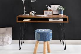 B Otisch Mit Regal Wohnling Schreibtisch Bagli Braun 110 X 60 X 76 Cm Massiv Holz