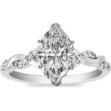 marquise diamond engagement ring vow rings polyvore