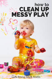 how to clean up messy play left brain craft brain