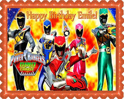 power rangers cake toppers power rangers dino charge 1 edible cake or cupcake topper edible