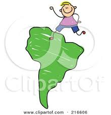 royalty free rf clipart illustration of a childs sketch of kids