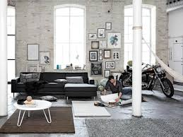 living room privat apartment amazing white living room design full size of living room harmonious white brick wall ceiling living room garage design with arc