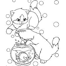 dessin a colorier chaton de noel voir le dessin dessincoloriage