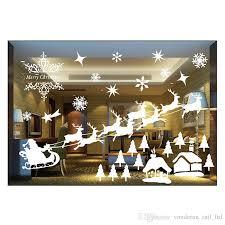 christmas window decorations christmas window decoration creative static stickers room