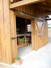 Exterior Shed Doors Large Barn Doors On An Outdoor Shed Right Door Slides Fixed