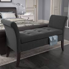 ideas gray bedroom bench with regard to glorious ottomans