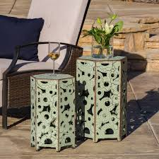 Antique Accent Table Christopher Knight Home Outdoor Parrish Antique Accent Table Set