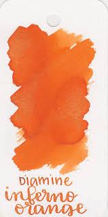 ink review 151 diamine inferno orange u2014 mountain of ink