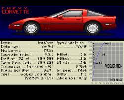 corvette test test drive screenshots for amiga mobygames