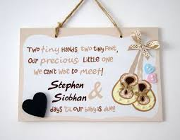baby plaques painted baby countdown plaque gift for parents to be baby