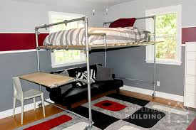 Built In Bunk Bed Plans 47 Diy Bed Frame Ideas Built With Pipe Simplified Building