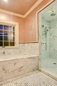 master bathroom tile gallery home decorating ideas master tile ideas and glmosaic tile bathroom with accent under marble master