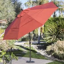 Patio Umbrella 11 Ft Coral Coast 11 Ft Spun Polyester Patio Umbrella With Push Button