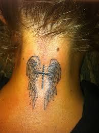 angel wings cross tattoo ideas tattoo ideers tattoo angel wings