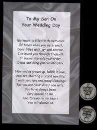 his and wedding to my on your wedding day token set this poem with a pewter