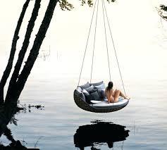 outdoor floating bed outdoor floating bed floating daybed hanging round bed designer