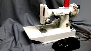 serviced white vintage 1964 singer 221k 221 featherweight sewing