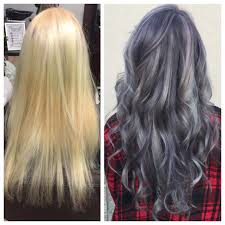 sterling silver hair makeover before and after of going from