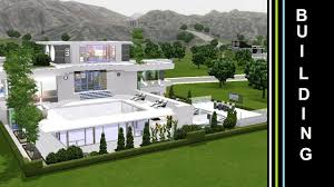 the sims 3 into the future building a futuristic house green