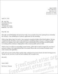 accounting internship cover letter 28 images application