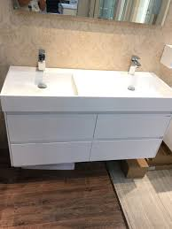 solid surface bathroom sinks 1200mm wall mounted solid surface stone double basin with soild