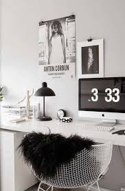 loving lately black white gold and peach workspace