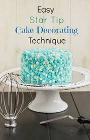 Easy Star Tip Cake Decorating Idea Ocean Theme The Cookie Writer