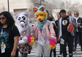 animal costumes san jose furcon brings furries and their animal costumes downtown