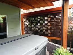 metal outdoor privacy screen panels patio designs home decorators