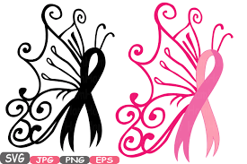 awareness ribbon butterfly svg cricut silhouette swirl props