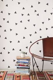 easy wall decorating ideas for renters view gallery triangle wall decal set from urban outfiters