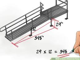 how to build a wheelchair ramp 12 steps with pictures wikihow