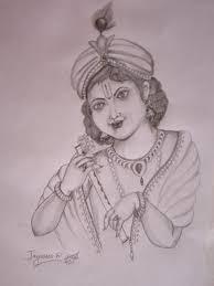 pencil sketch of god krishna desipainters com