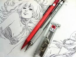photoshop tutorial digital colouring techniques for pencil art