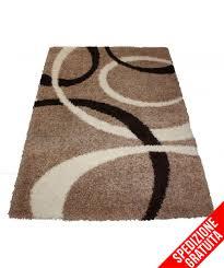 tappeti vendita tappeto moderno 200 x 290 marrone beige pelo alto boucle