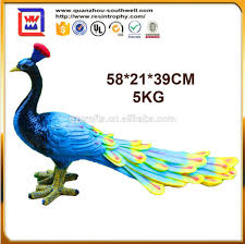 resin bird ornaments crafts and polyreesin peacock figurines