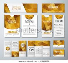 Brochures And Business Cards Vintage Style Brochure Template Design Modern Stock Vector